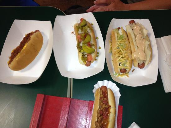 Cat's Incredible Hot Dogs: so many types and all so good.