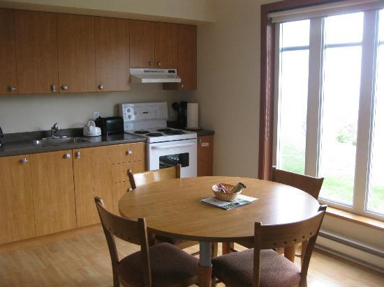 Condo-Hotel Natakam and Cottages: fully equipped kitchen with great view from table