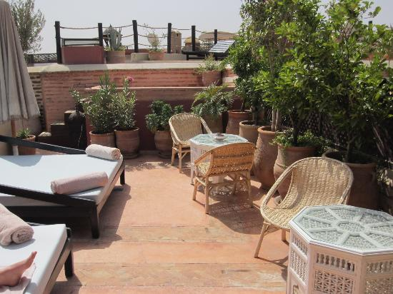 Riad Zolah: Roof terrace