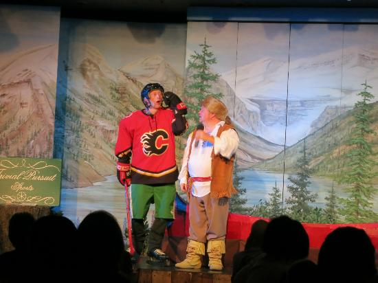 Oh Canada Eh? Dinner Show: hockey player with missing teeth