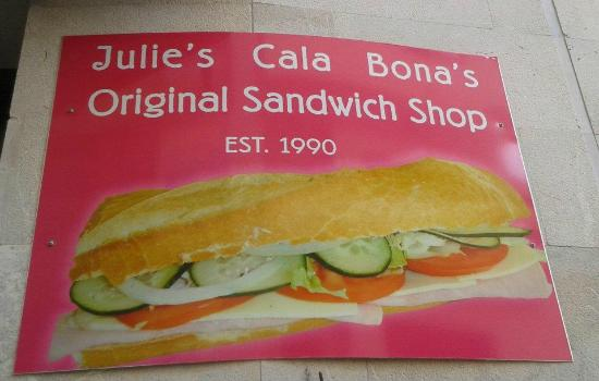 Julie's Sweets and Sandwiches: Julie's Cala Bona's