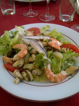 Restaurant Cote Sud: Seafood salad