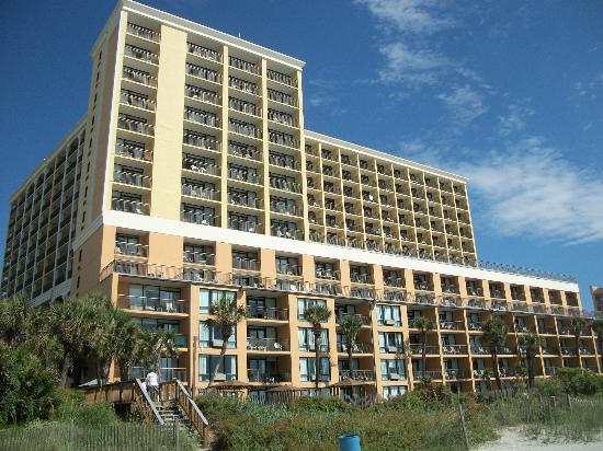 view from beach picture of the caravelle resort myrtle. Black Bedroom Furniture Sets. Home Design Ideas