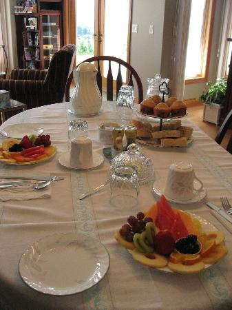 De Rosa Vineyard Bed and Breakfast: DeRosa B+B Breakfast first course