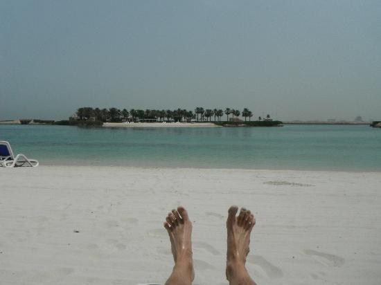 The Ritz-Carlton, Bahrain: Relaxing on the beach