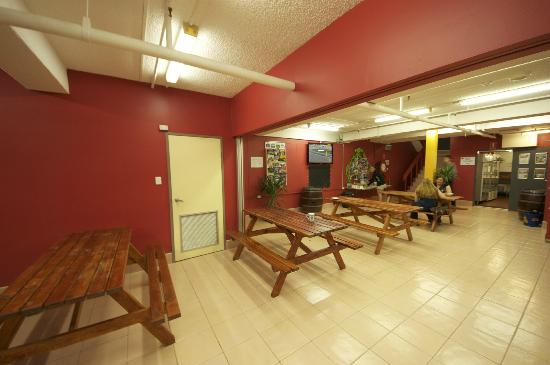 Jackaroo Hostel: Downstairs dining area