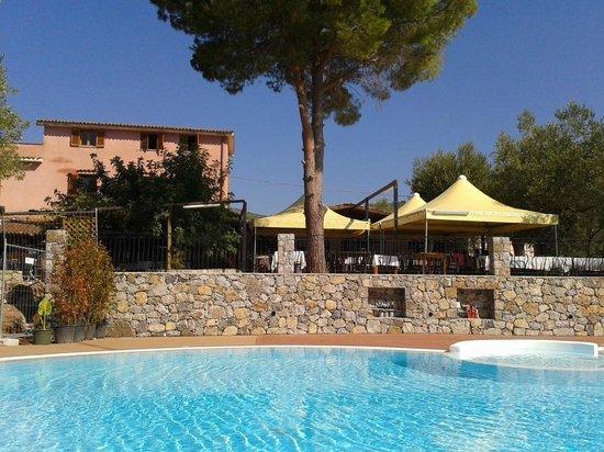 Park Hotel Cilento: Veduta del ristorante dalla piscina