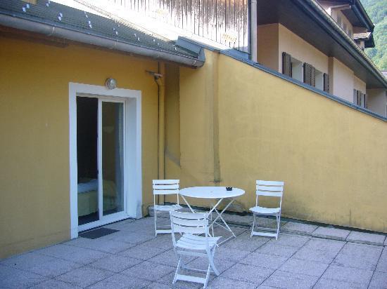 Hotel du Midi: La Terrasse de notre chambre