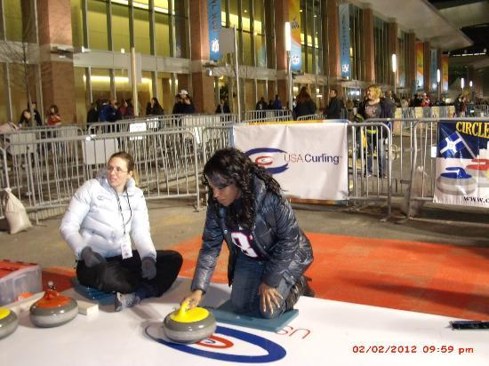 Courtyard Indianapolis South: Me Curling in Indy -- Winter Sports