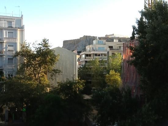 Hotel Metropolis: vue du balcon de notre chambre