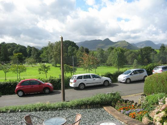 Hazeldene Hotel: View of Catbells fell from the front porch.