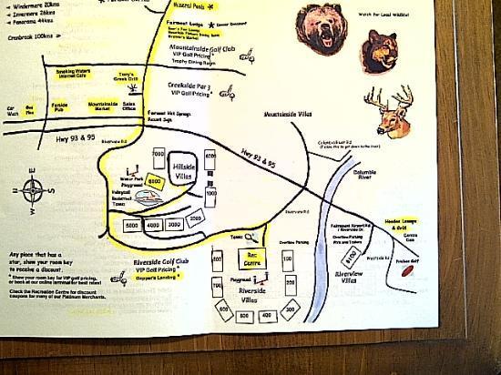 Sunchaser Vacation Villas at Riverside : Map of the resort - was very handy.