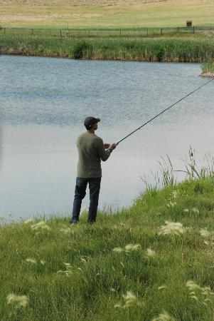 Ranch at Ucross: stocked pond for fishing