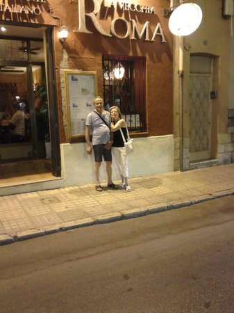 La Vecchia Roma: Uscita dal ristorante