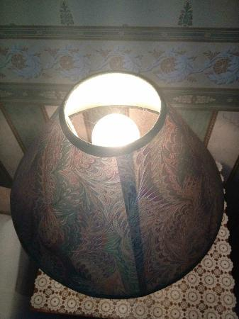 The Pillar House Hotel: The lampshade from above