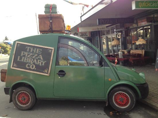 The Pizza Library: Delivery vehicle