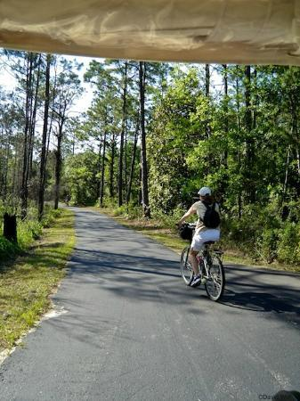 Hugh S. Branyon Backcountry Trail : Cyclist loves the level paved trails
