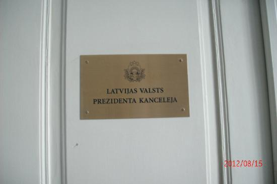 National History Museum of Latvia: Latvian President's office, one flight below the museum