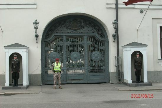 National History Museum of Latvia: Guards outside the President's Office/museum