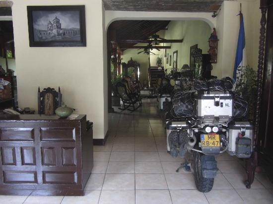 Hotel Real: Great indoor motorcycle parking !!