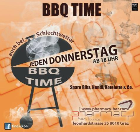 Pharmacy Bar - Lounge: BBQ Time - jeden Donnerstag (Mai - Sep)