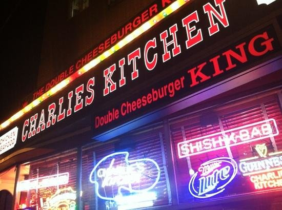 Charlie's Kitchen: out side view...BOOM!!!