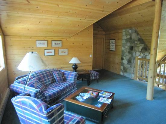 Alaska Kenai River Raven: The common area outside your room