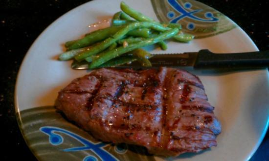Eastern Buffet: The unlimited steak...and also some green beans.