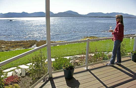Anchor Inn by the Sea: A guest enjoying the view from the Orca Suite.