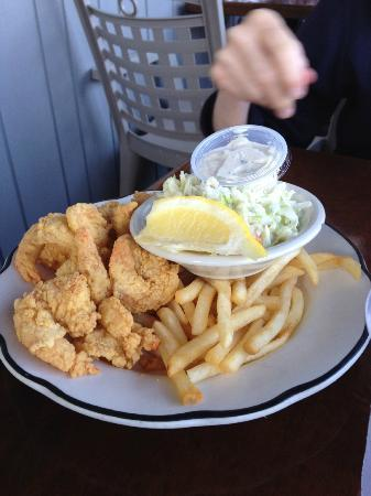 The Barnacle : fried butterfly shrimp and fries