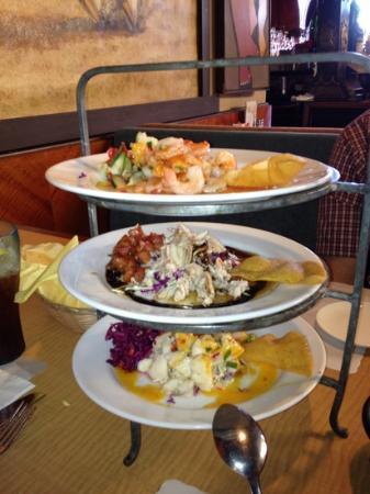 Don Pico's Restaurant: Triple ceviche appetizer