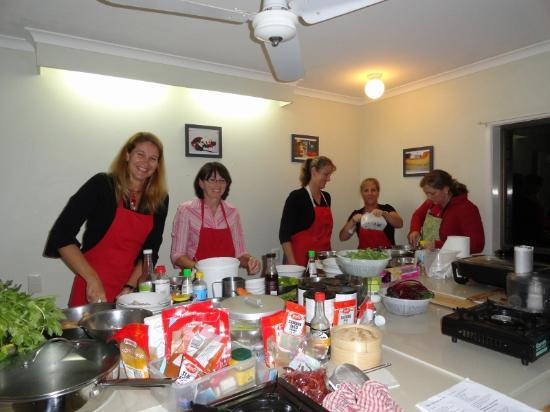 Sacred Chef Cooking School: in the cooking studio