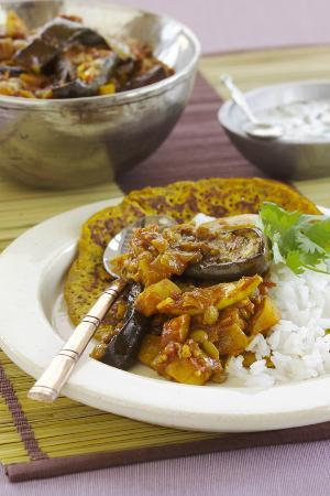Sacred Chef Cooking School: eggplant curry with turmeric panbread