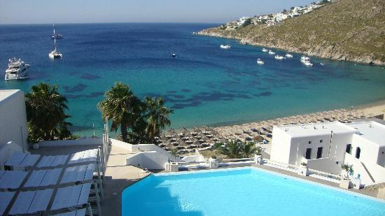 Grecotel Mykonos Blu Hotel: view from our room