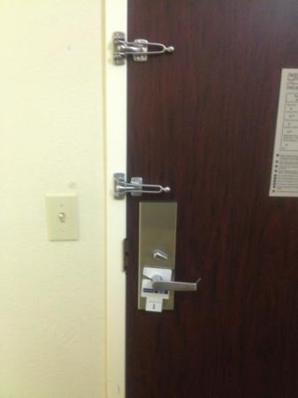 Holiday Inn Express Lompoc: Door locks - never seen this before.