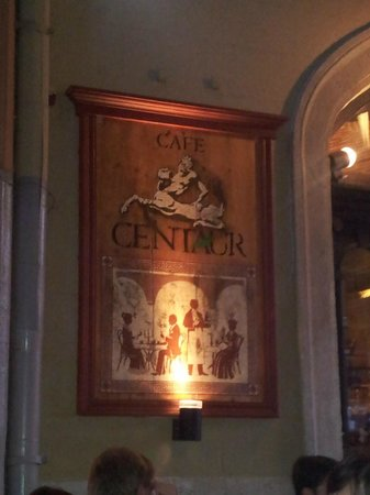 Cafe Centaur: The sign of the restaurant