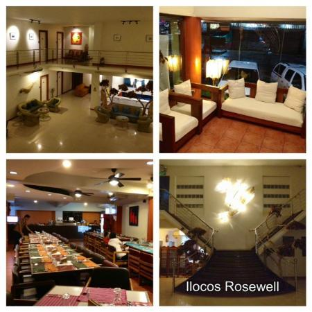 Ilocos Rosewell Hotel: Reception, View of the Rooms, Gerry's Diner