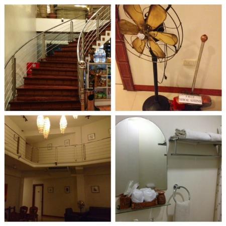 Ilocos Rosewell Hotel: Stairs, Bathroom, Free Shoe Shine!