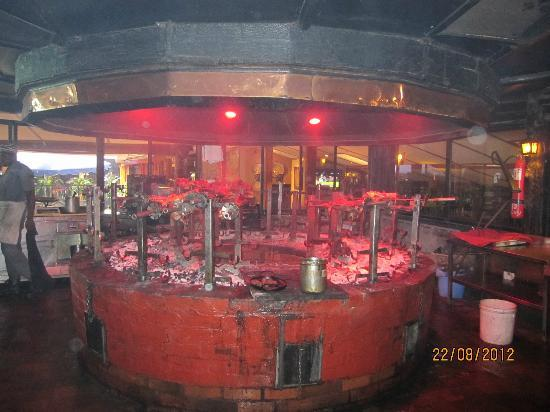Another view of the grill area picture of the carnivore for Arabian cuisine nairobi