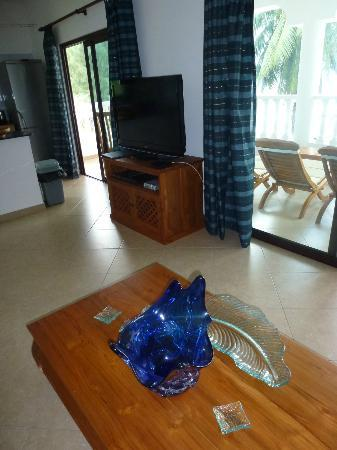 Chalets Anse Possession: Appartment living area