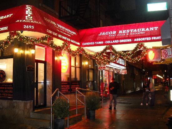 Facade du restos picture of jacob restaurant soul food for Food bar new york