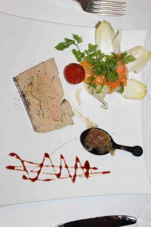 La Flambee: entrée foie gras