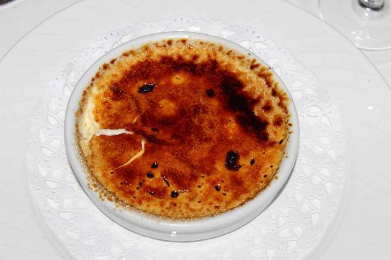 La Flambee: crème brulée très réussi 