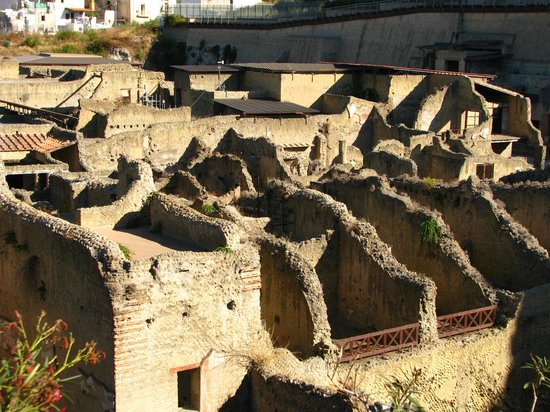 Ruins of Herculaneum: Ruins from above