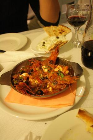 Sirocco: Yummie Shrimp Saganaki