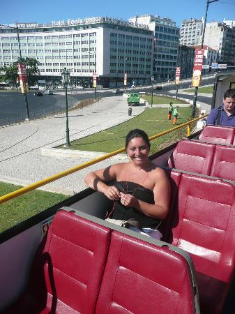 City Sightseeing Lisbon : Starting the tour on the open top deck!