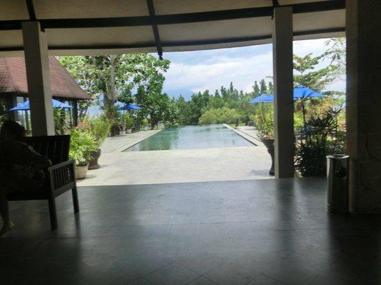 NDC Resort & Spa Manado:                                     フロントから見たプール