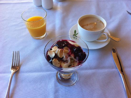 Edgelinks Country House: The best museli and yoghurt I've ever eaten.