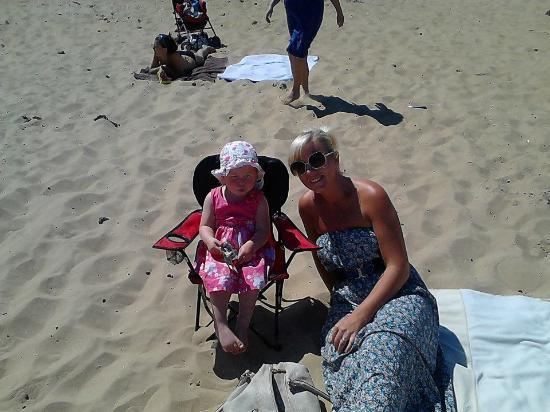Long Sands Beach: on the beach