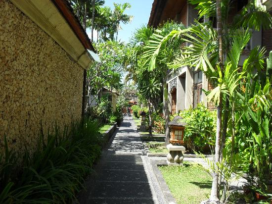 Adi Dharma Cottages: walkway